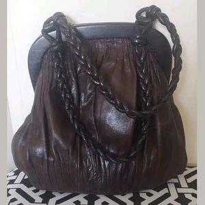 Vintage David & Scotti Brown Leather Purse